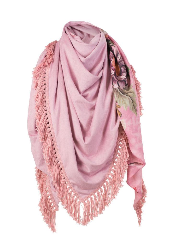Dreieckstuch Damen rosa, Damen Halstuch in rosa