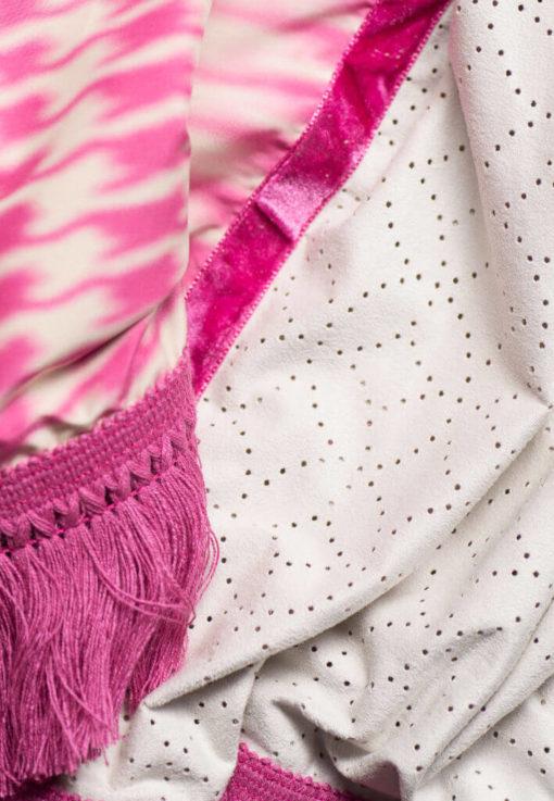 Dreieckstuch Damen pink, Damen Halstuch in pink